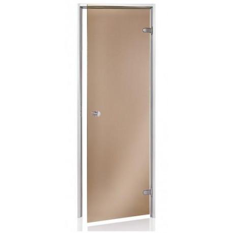 Dveře do parní sauny Andres scan 7x19 bronz